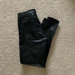 Levis Mile High Super Skinny Black Snakeskin Jeans